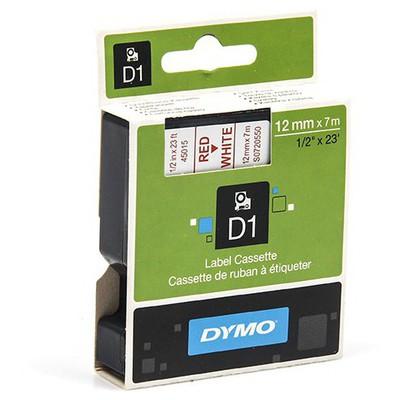 dymo-d1-yedek-serit-12-mm-x-7-mt-beyaz-kirmizi
