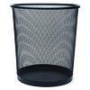 854 Çöp Kovası Metal Tam Delikli 10 L Siyah