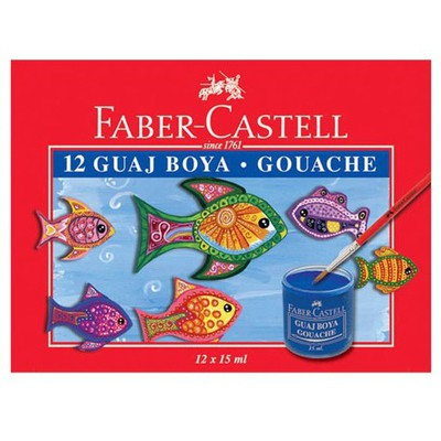 Faber Castell Guaj Boya 12 Renk Resim Malzemeleri