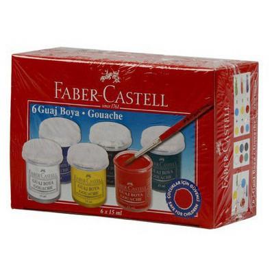 Faber Castell Guaj Boya 6 Renk Resim Malzemeleri