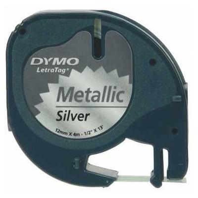 dymo-letratag-serit-59429-metalik-gri