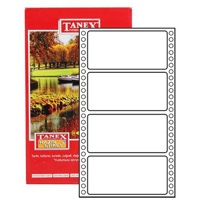 Tanex Yazıcı i Sürekli Form 48x100 mm Model TN-0026 Etiket
