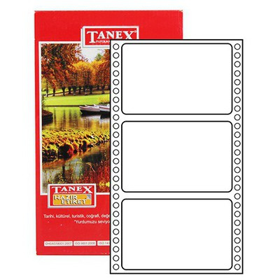 Tanex Yazıcı i Sürekli Form 64x100 Mm Model Tn-0024 Etiket