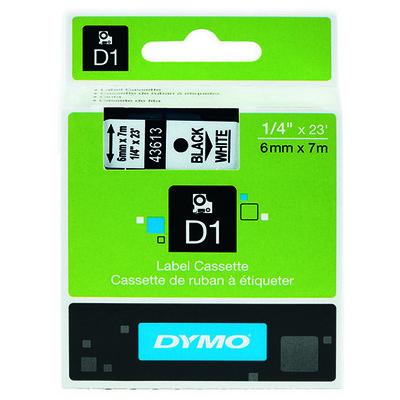 dymo-d1-yedek-serit-6-mm-x-7-mt-beyaz-siyah