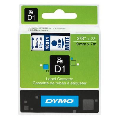 Dymo D1 Yedek Şerit 9 mm x 7 m Beyaz/Kırmızı Etiket