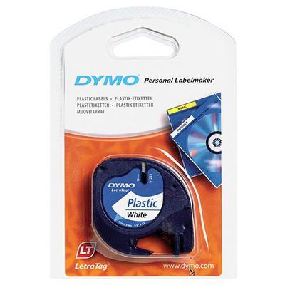 dymo-letratag-plastik-etiket-beyaz