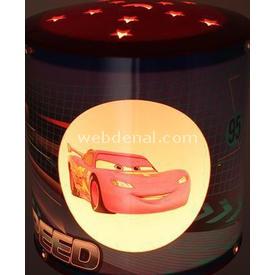 YKC Disney Cars Pencereli Abajur Lamba & Abajur
