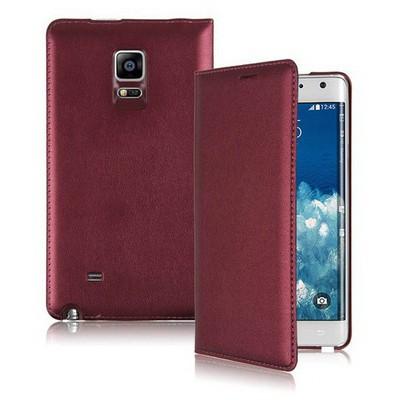 Microsonic Delux Kapaklı Samsung Galaxy Note Edge Kılıf Şarap Kırmızısı Cep Telefonu Kılıfı