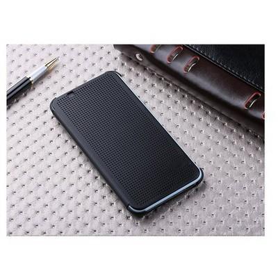 Microsonic View Cover Dot Delux Kapaklı Htc Desire 620 Kılıf Akıllı Modlu Siyah Cep Telefonu Kılıfı