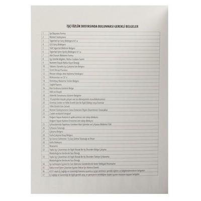 Ful Color Personel Özlük Dosyası 8 Yaprak Resmi Evrak