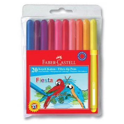 Faber Castell Fiesta Keçeli Kalem 20'li Poşet Resim Malzemeleri