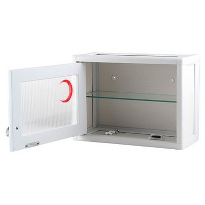 Tunç Plast Pvc Pratik Tek Kapılı Mini Ecza Dolabı ( 34x26x15 Cm ) Beyaz Ecza & Anahtar Dolapları