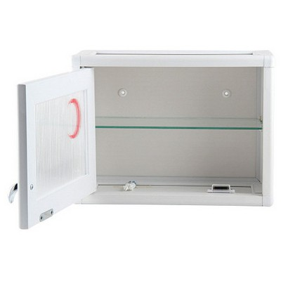 Tunç Plast Pvc Pratik Tek Kapılı Mini Ecza Dolabı ( 34x26x15 Cm ) Beyaz Ecza Dolapları