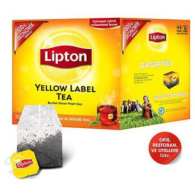 Lipton Yellow Label Siyah Bardak  500'lü Paket Poşet Çay