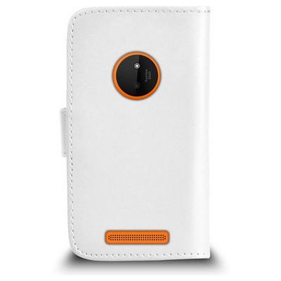 Microsonic Cüzdanlı Deri Nokia Lumia 830 Kılıf Beyaz Cep Telefonu Kılıfı