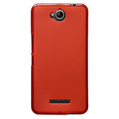 Microsonic Glossy Soft Vodafone Smart 4 Max Kılıf Kırmızı Cep Telefonu Kılıfı