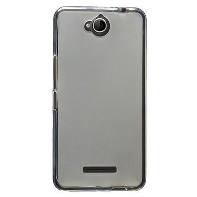 Microsonic Glossy Soft Vodafone Smart 4 Max Kılıf Beyaz Cep Telefonu Kılıfı