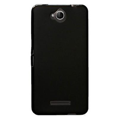 Microsonic Glossy Soft Vodafone Smart 4 Max Kılıf Siyah Cep Telefonu Kılıfı