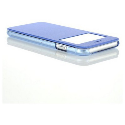 Microsonic View Cover Delux Kapaklı Iphone 6 (4.7'') Kılıf Mavi Cep Telefonu Kılıfı