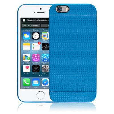 Microsonic Dot Style Silikon Iphone 6 Plus 5.5'' Kılıf Mavi Cep Telefonu Kılıfı