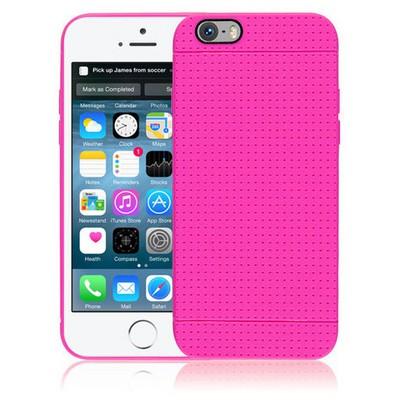 Microsonic Dot Style Silikon Iphone 6 4.7'' Kılıf Pembe Cep Telefonu Kılıfı