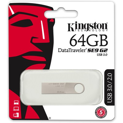 Kingston 64GB DataTraveler SE9 G2 Flash Bellek (DTSE9G2/64GB)