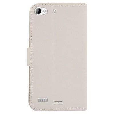 Microsonic Cüzdanlı Deri Lenovo Vibe X2 Kılıf Beyaz Cep Telefonu Kılıfı