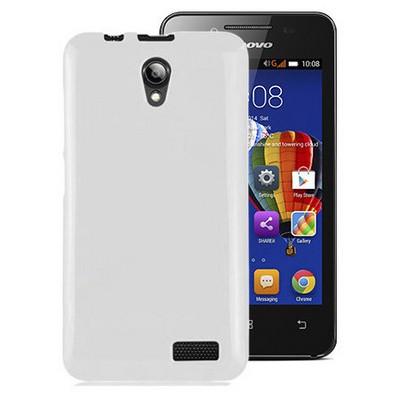 Microsonic Glossy Soft Lenovo A319 Kılıf Beyaz Cep Telefonu Kılıfı