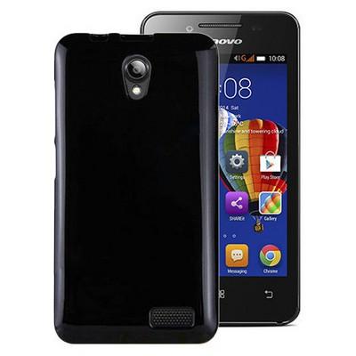Microsonic Glossy Soft Lenovo A319 Kılıf Siyah Cep Telefonu Kılıfı