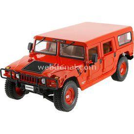 Maisto Hummer 4 Door Wagon 1:18 Model Araba P/e Kırmızı Arabalar