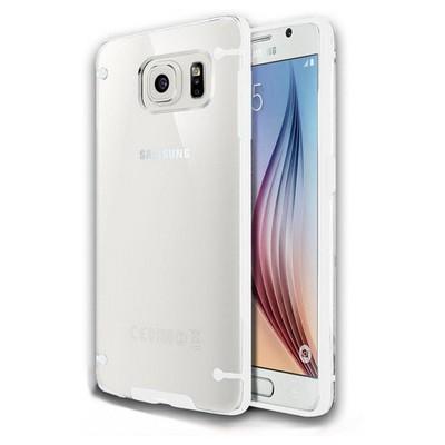 Microsonic Hybrid Transparant Samsung Galaxy S6 Kılıf Beyaz Cep Telefonu Kılıfı