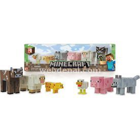 "Giochi Preziosi Minecraft 6""lı Hayvan Seti Figür Oyuncaklar"