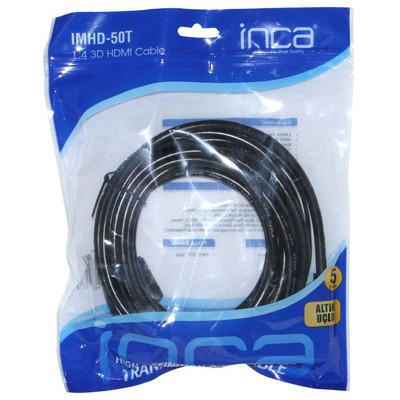 Inca IMHD-50T 5 METRE 1,4 V 3D 4K ALTINUÇ HDMI KABLO HDMI Kablolar