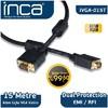 Inca Ivga-015t Vga To Vga 15 Metre Altın Uçlu Kablo Ses ve Görüntü Kabloları
