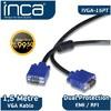 Inca Ivga-15pt Vga To Vga 1.5 Metre Kablo Ses ve Görüntü Kabloları
