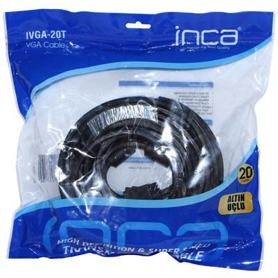 Inca Ivga-20t Vga To Vga 20 Mt Altın Uçlu Kablo Ses ve Görüntü Kabloları