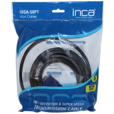 Inca Ivga-50pt Vga To Vga 5 Metre Kablo Ses ve Görüntü Kabloları