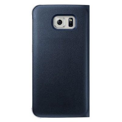 Microsonic Flip Leather Samsung Galaxy S6 Edge Kapaklı Deri Kılıf Siyah Cep Telefonu Kılıfı