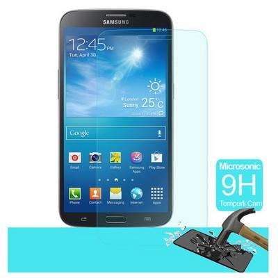 Microsonic Temperli Cam Ekran Koruyucu Samsung Galaxy Mega 6.3 Kırılmaz Film Ekran Koruyucu Film