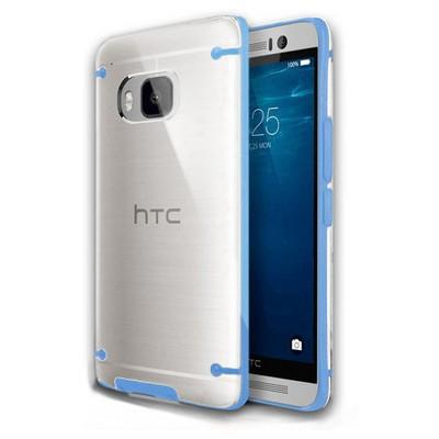 Microsonic Hybrid Transparant Htc One M9 Kılıf Mavi Cep Telefonu Kılıfı