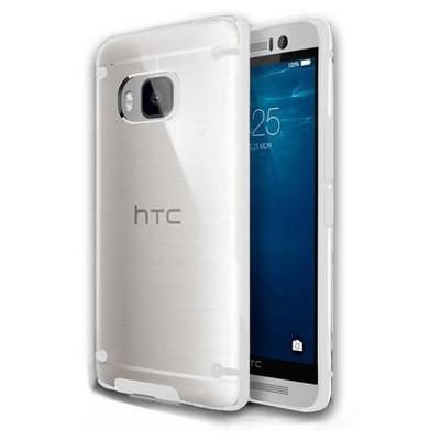 Microsonic Hybrid Transparant Htc One M9 Kılıf Beyaz Cep Telefonu Kılıfı