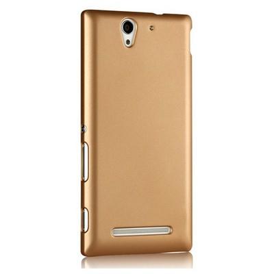 Microsonic Premium Slim Sony Xperia C3 Kılıf Sarı Cep Telefonu Kılıfı