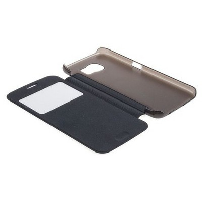 Microsonic View Cover Delux Kapaklı Samsung Galaxy S6 Kılıf Mavi Cep Telefonu Kılıfı