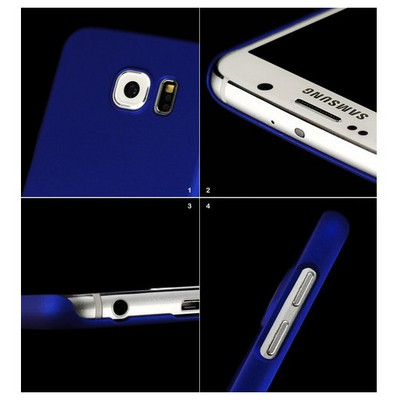 Microsonic Premium Slim Kılıf Samsung Galaxy S6 Kılıf Mavi Cep Telefonu Kılıfı