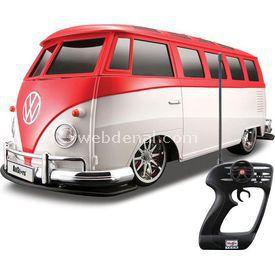 Maisto Tech 1:10 Volkswagen Van Samba U/k Araba Kırmızı Arabalar