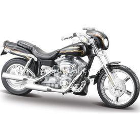 Maisto 1:18 Harley Davidson 2002 Fxdwg Cvo Maket Kit Puzzle
