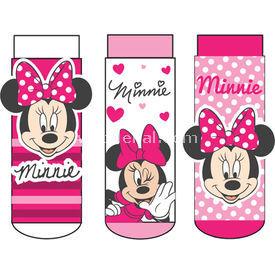 Minnie Mouse Mn4851 3'li Kız Bebek Çorabı Pembe 0 Ay (50-56 Cm) Kız Bebek Çamaşırı