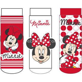Minnie Mouse Mn4936 3'li Kız Bebek Çorabı Pembe 0 Ay (50-56 Cm) Kız Bebek Çamaşırı