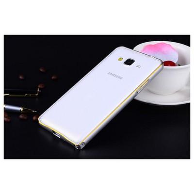 Microsonic Samsung Galaxy J1 Thin Metal Çerçeve Kılıf Gümüş Cep Telefonu Kılıfı