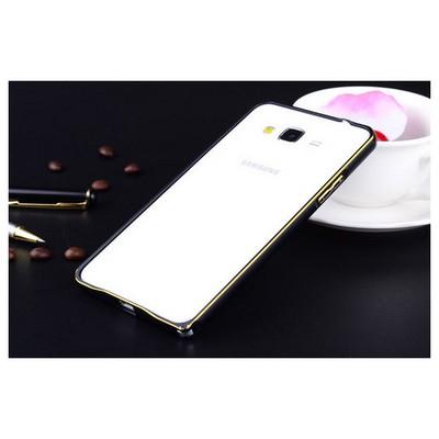 Microsonic Samsung Galaxy J1 Thin Metal Çerçeve Kılıf Siyah Cep Telefonu Kılıfı